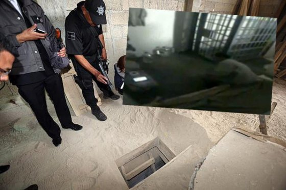 Tunel de fuga  del Chapo Guzman