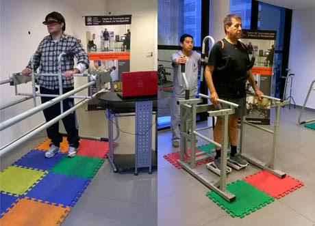Los equipos dinámicos permiten acoplar un visor de realidad virtual que por medio de imágenes favorece la formación del patrón de marcha