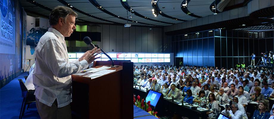 Presidente Santos intervino en la clausura de la 71ª Asamblea de la Andi en Cartagena