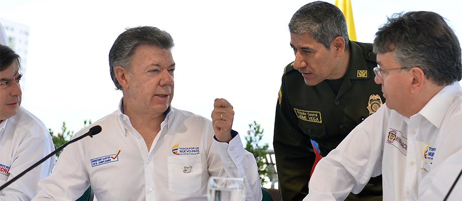 Presidente Santos invitó a que las autoridades de Colombia y Venezuela trabajen coordinadamente en la lucha contra la delincuencia que afecta la zona fronteriza