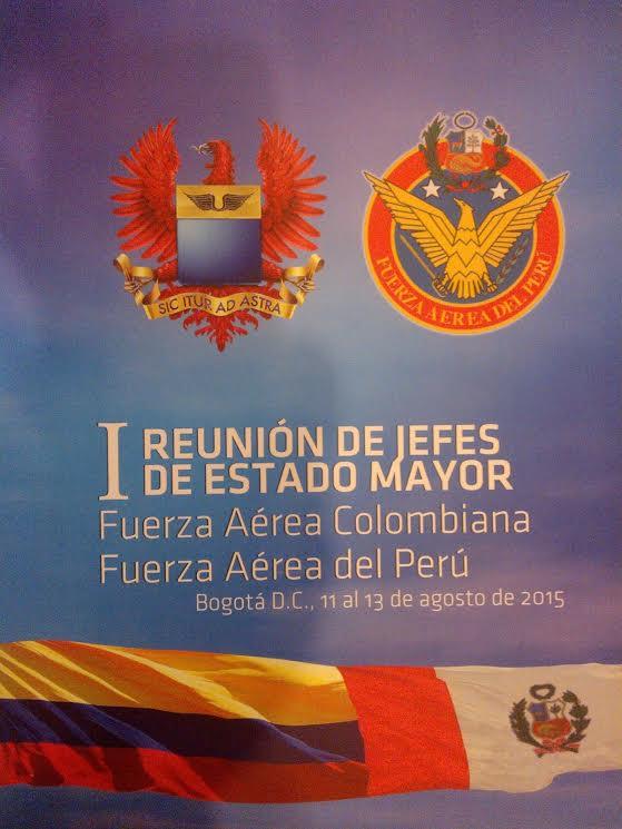 Reunión de Jefes de Estado Mayor entre la FuerzaAérea Colombiana y la Fuerza Aérea del Perú