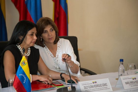 Reunion de Cancilleres de Colombia y Venezuela en Cartagena