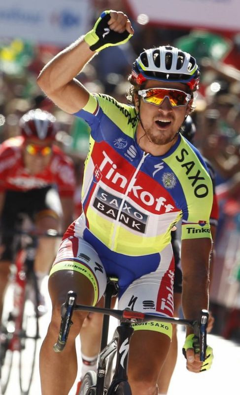 Sagan, victorioso en la meta de Málaga.