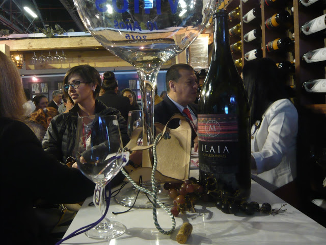 Ilaia, un Chardonnay de antología, en Expovinos 2015. Foto: la Pluma & La Herida