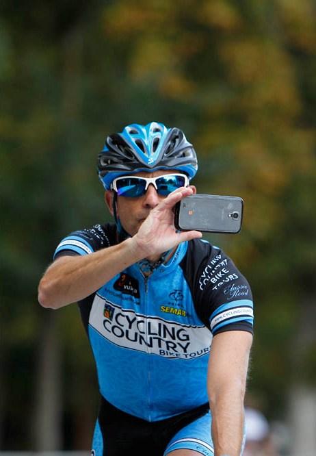 Aficionados ciclistas en la Vuelta