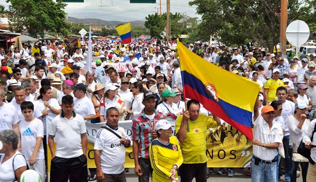 Colombianos marchan en Cúcuta