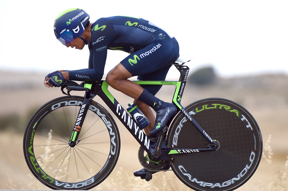 Nairo Quintana on stage seventeen of the 2015 Tour of Spain