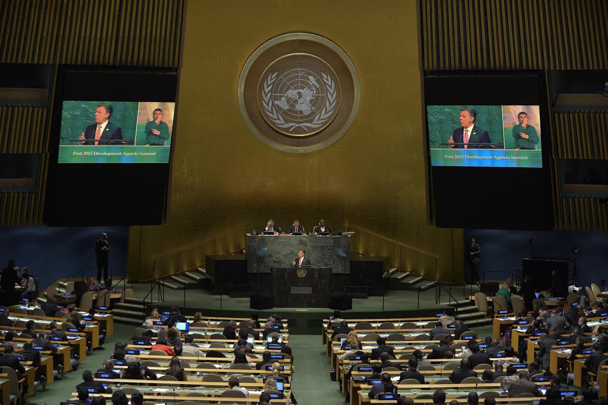 Santos en la ONU 250915A