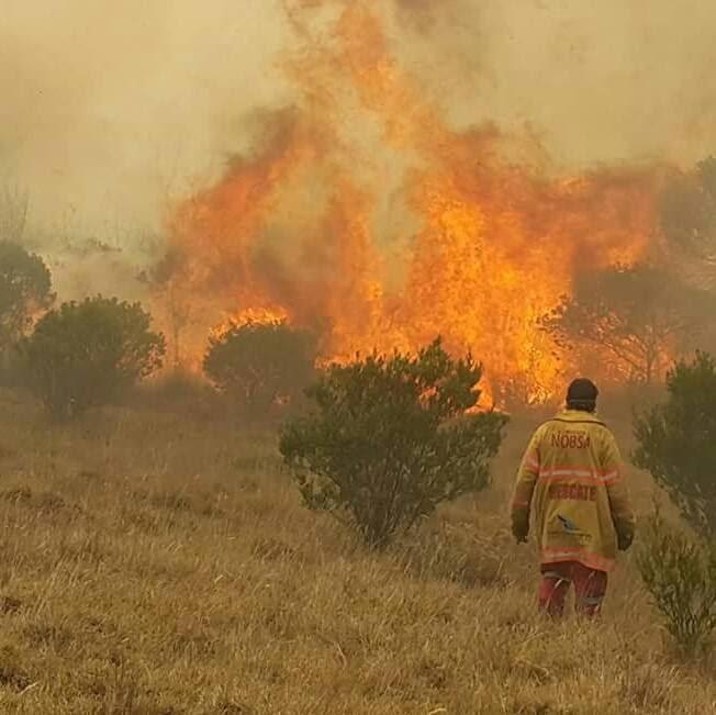 incendio forestal en Nobsa, Boyacá