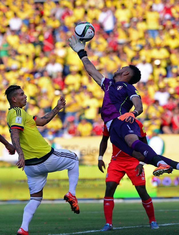 Colombia derroto a Peru 2-1C