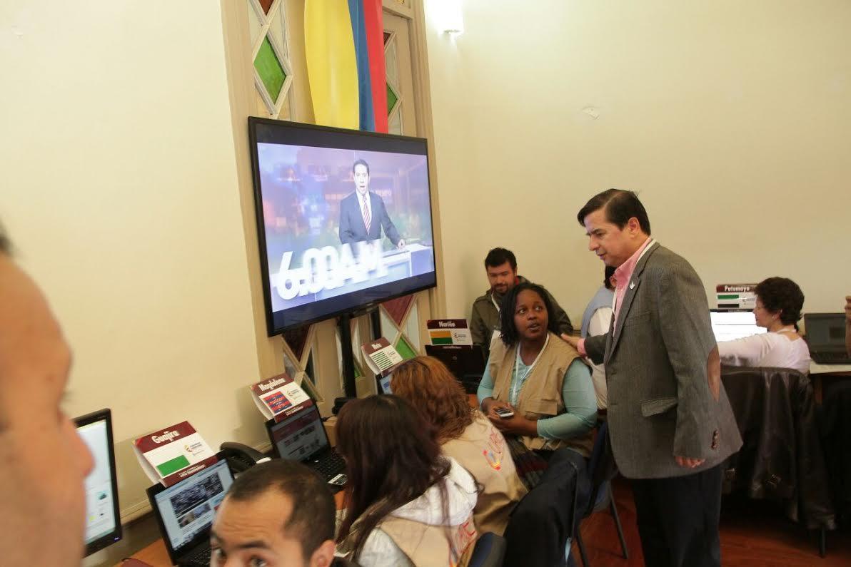 El ministro Juan Fernando Cristo hace presencia en el  Puesto de Mando Unificado, PMU,8