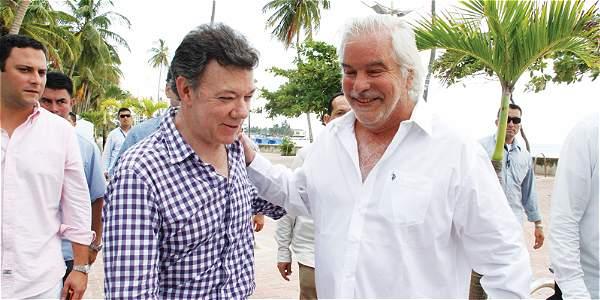 Lucio García Mansilla y el presidente Juan Manuel Santos.