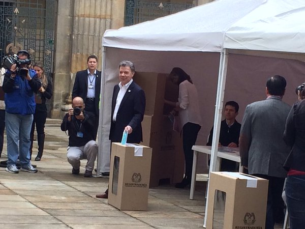 Presidente Santos Voto a primera hora