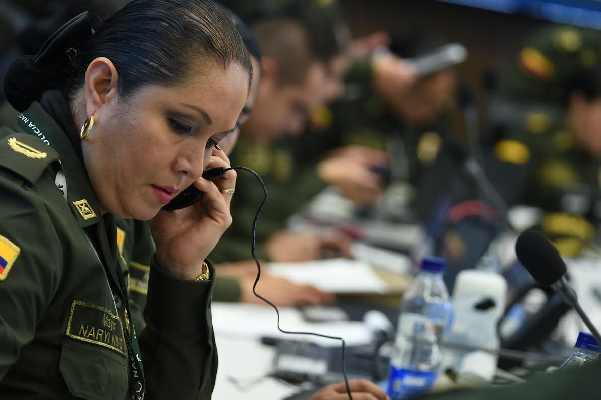 sala estrategia de la Policía Nacional el ministro de defensa Luis Carlos Villegas 2