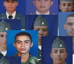 uniformados que murieron en una emboscada del ELN en Guicán, Boyacá