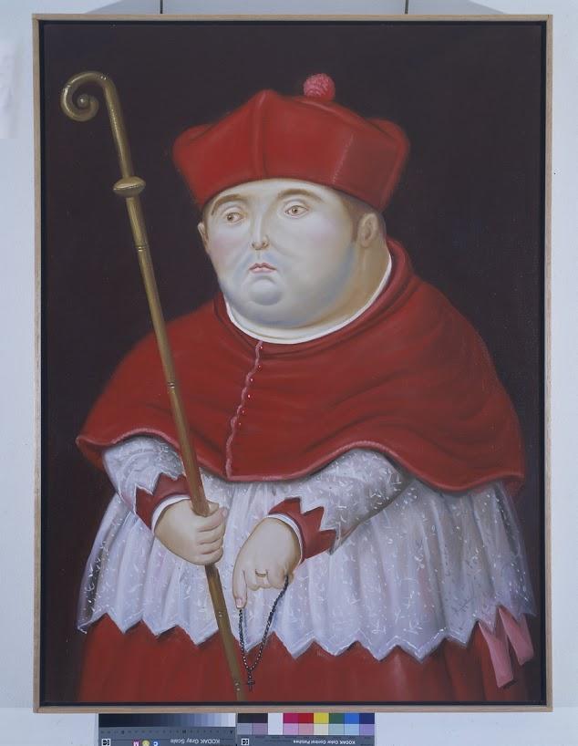 Cardinal 1998 oleo sobre tela