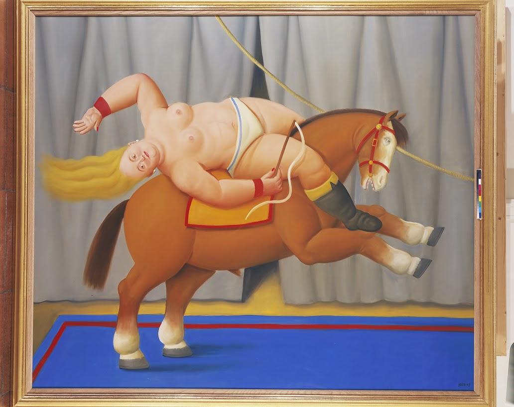 Circus Act 2007 oleo sobre tela