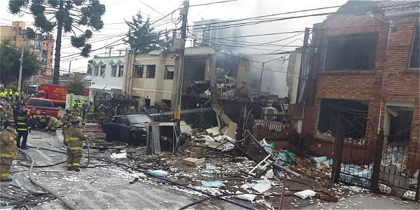 Explosión en vivienda de Galerías en Bogotá2