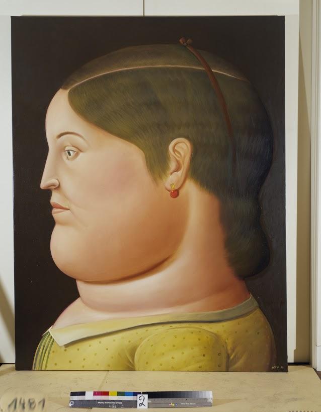 Girl in Profile 1999 oleo sobre tela