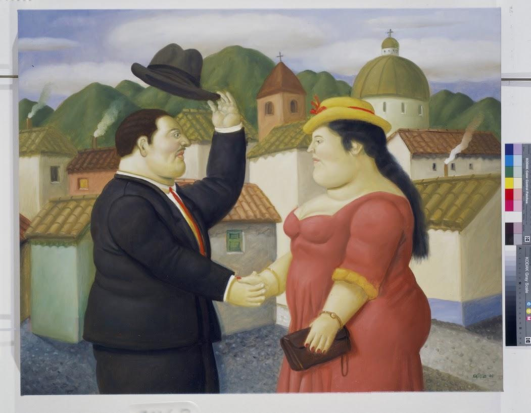 Man and Woman 2001 oleo sobre tela