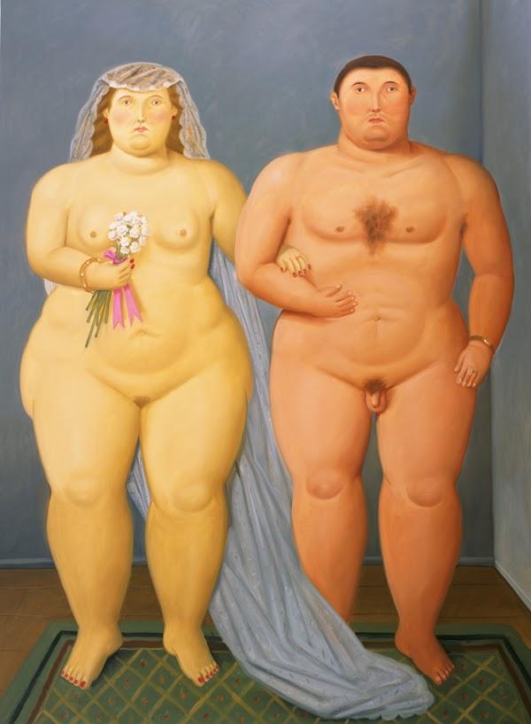 Nudist Marriage 2010 oleo sobre tela