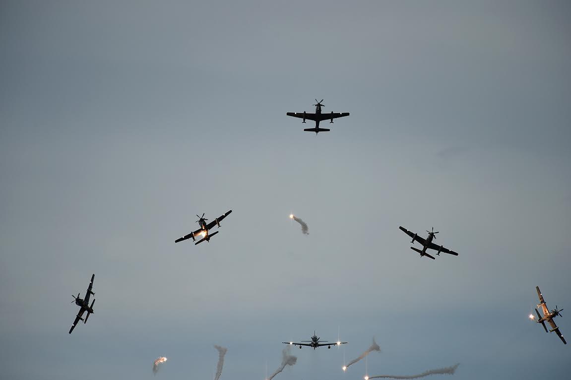 ceremonia de los 96 años de la Fuerza Aérea Colombiana.