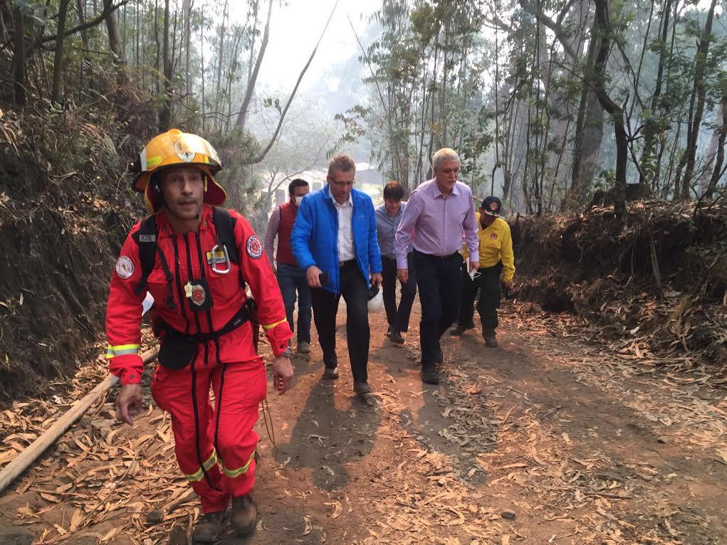 APOYO DEL ALCALDE MAYOR DE BOGOTÁ EN PMU POR INCENDIO FORESTAL EN LOS CERROS ORIENTALES