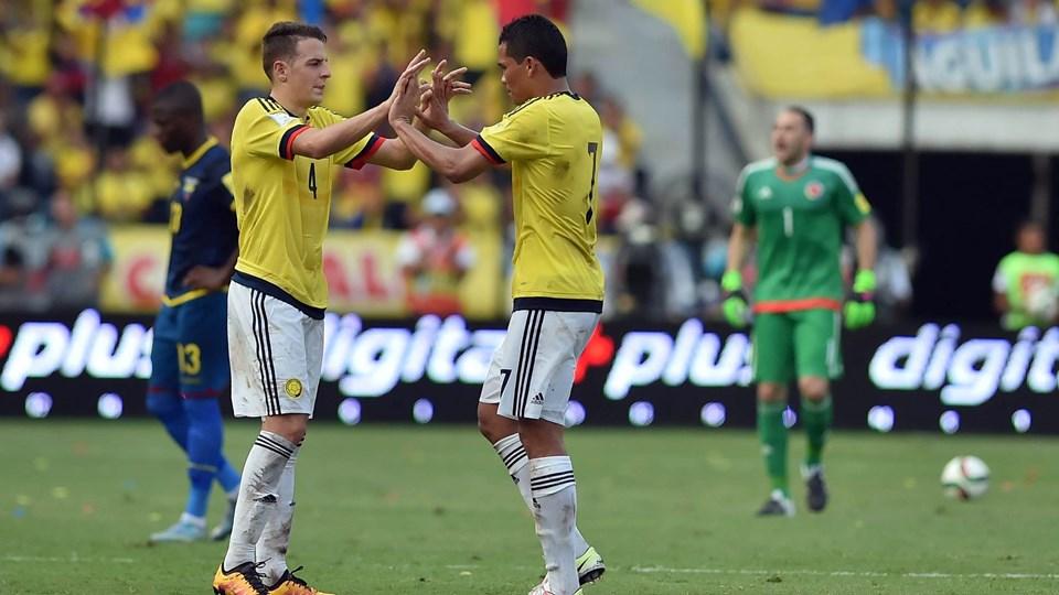 Bacca celebra triunfo de Colombia ante Ecuador