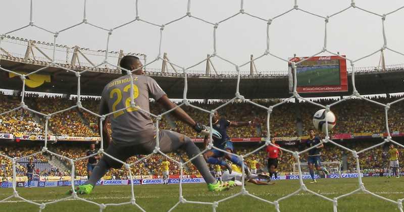 Gol de Colombia ante Ecuador