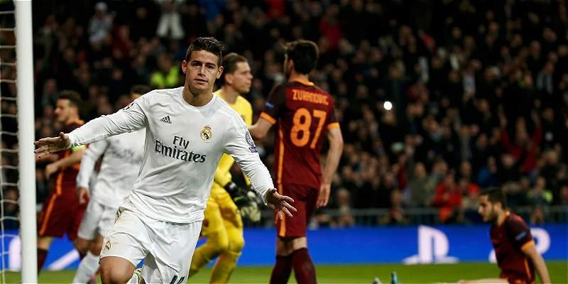 Un gol, la respuesta de James a las rechiflas del Santiago Bernabéu