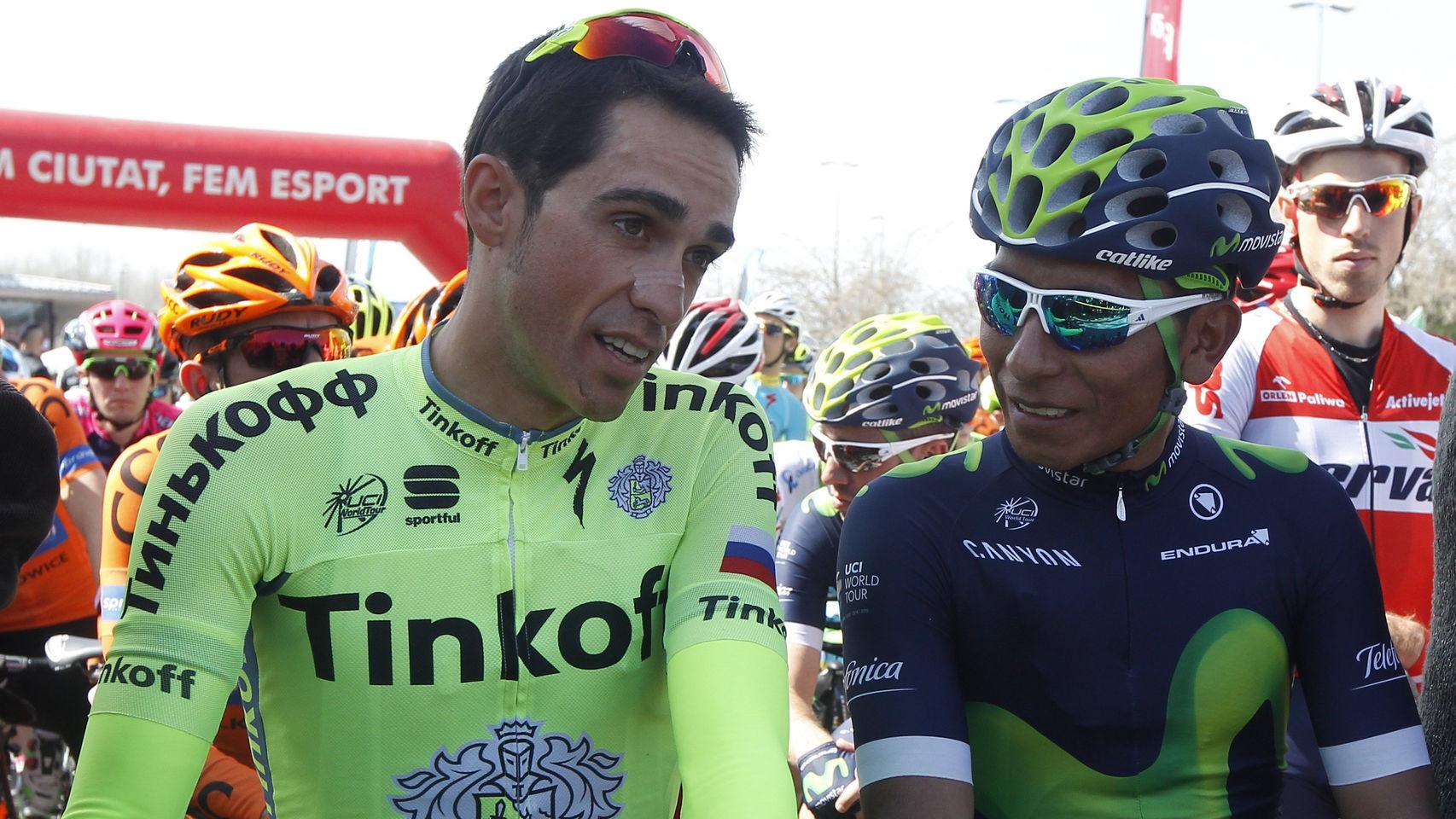 Alberto Contador y Nairo Quintana por la vuelta Vasca