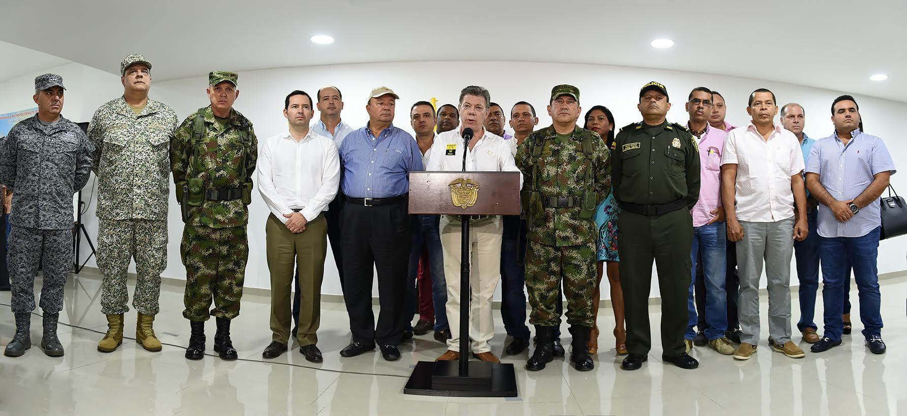 Declaraciones presidente Santos