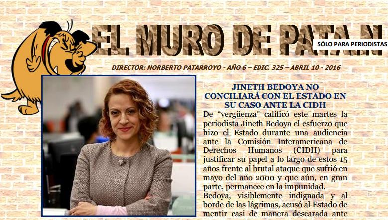 EDICIÓN 325 de EL MURO DE PATA.N