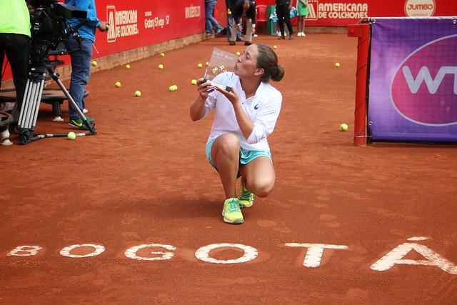 Irina Falconi, se coronó hoy como la campeona del Claro- Colsanitas WTA