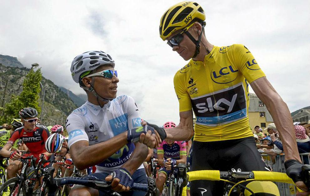 Nairo Quintana y Chris Froome.