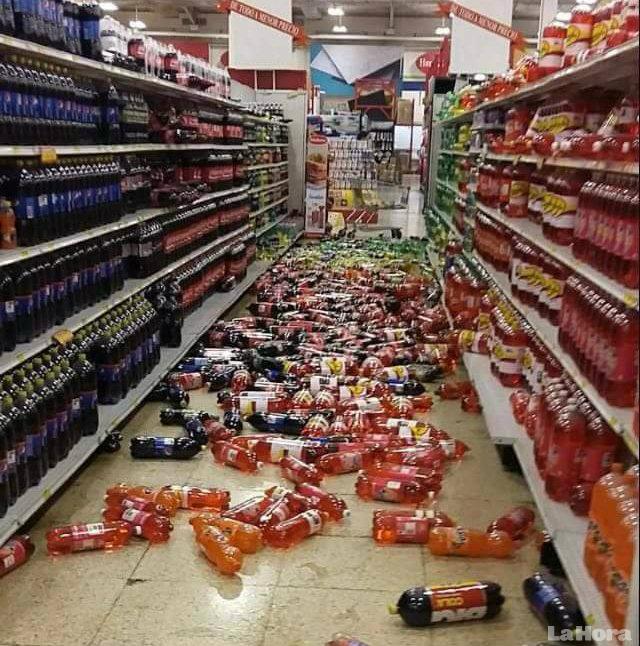 Panorama. Tuiteros publicaron fotos sobre los efectos del temblor.