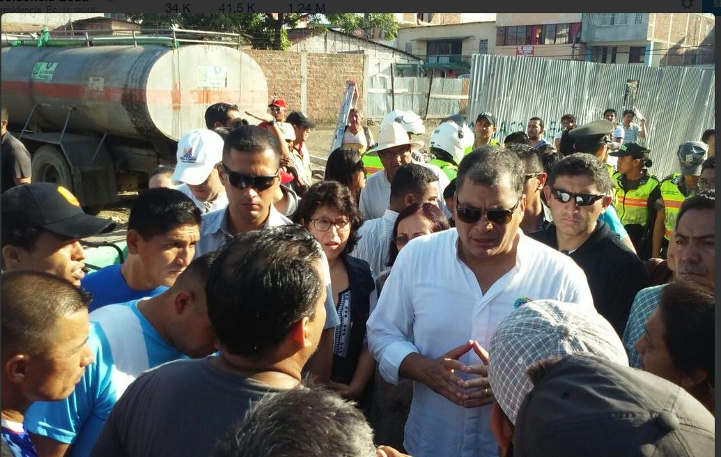 Presidente Correa -Terremoto Ecuador.2