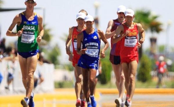 Atletas que participarán en el Mundial de Marcha