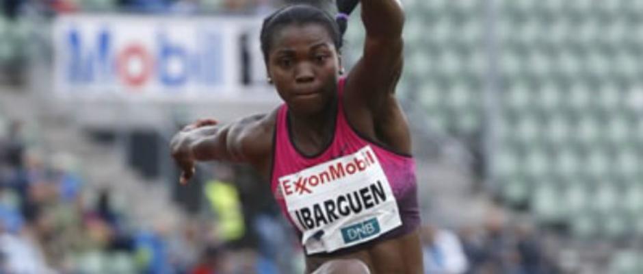 Caterine Ibargüen, campeona mundial de salto triple