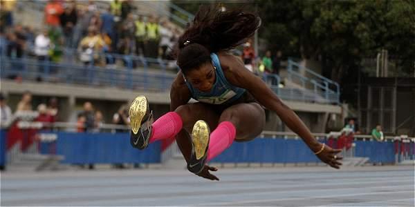 Caterine Ibarguen, medallista olímpica en Londres 2012.