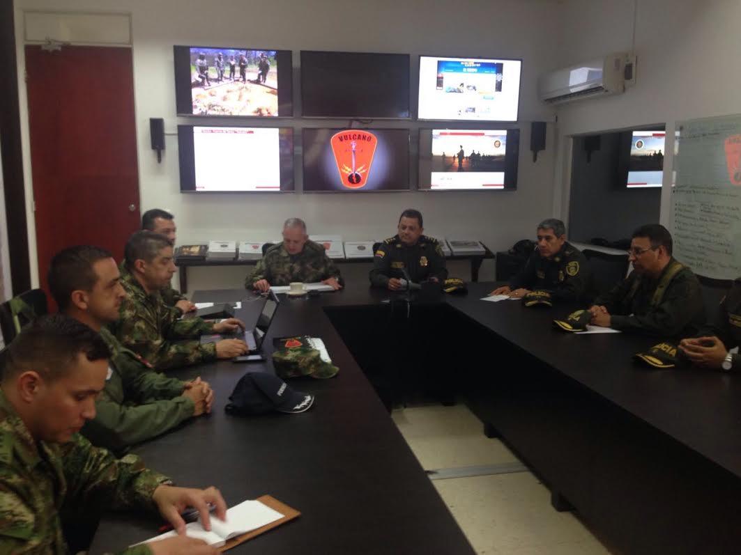 Consejo de seguridad Militar en Itarra Santander del norte