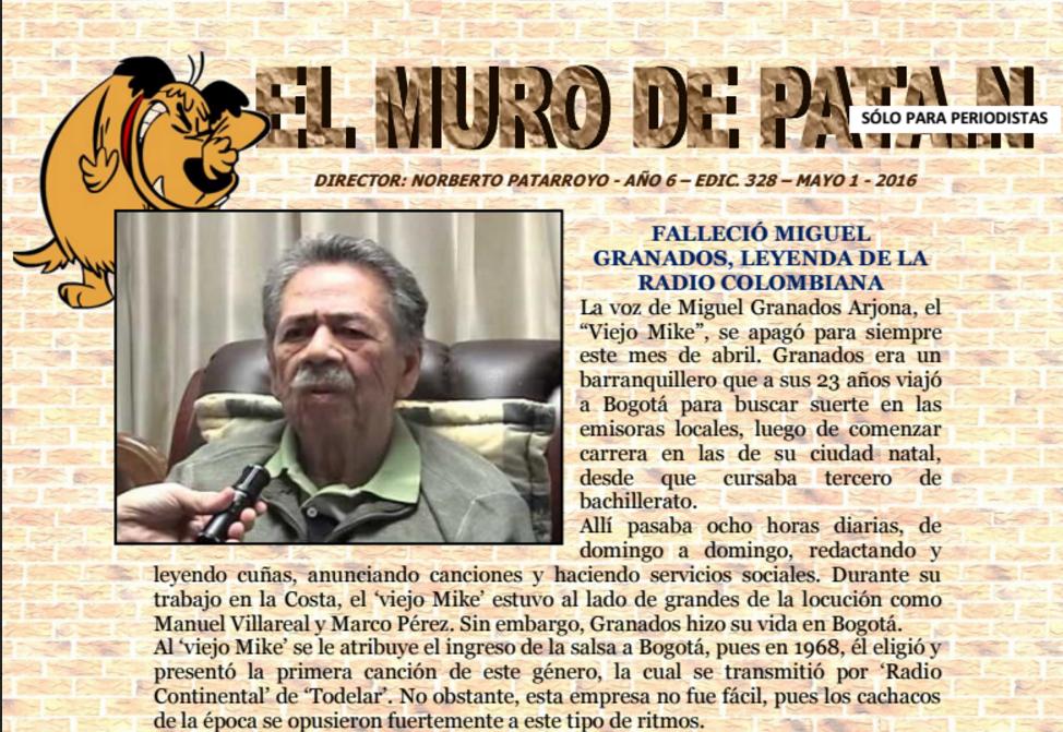 EL MURO DE PATA.N EDICIÓN 328