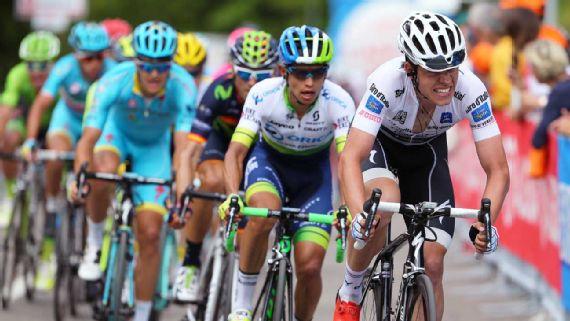 Esteban Chaves  fue el mejor colombiano en la etapa 17 del Gir