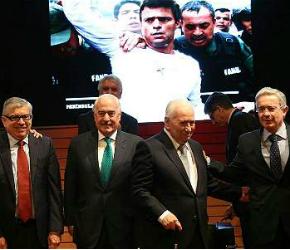 Expresidentes Gaviria, Pastrana, Betancur y Alvaro Uribe