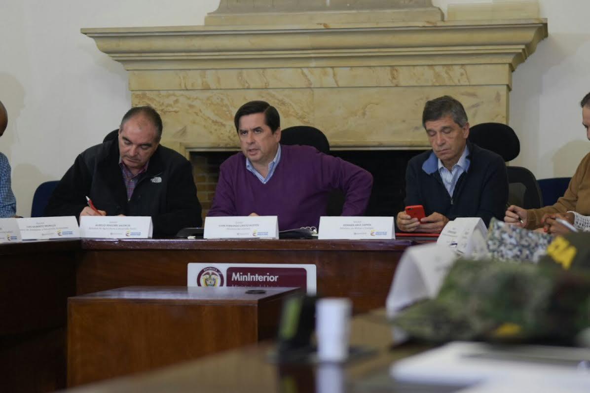 Gobierno revisa situación de orden público ante movilizaciones campesinas