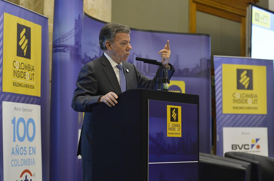 INTERVENCIÓN PTE SANTOS EN EL FORO COLOMBIA INSIDE OUT en Londres