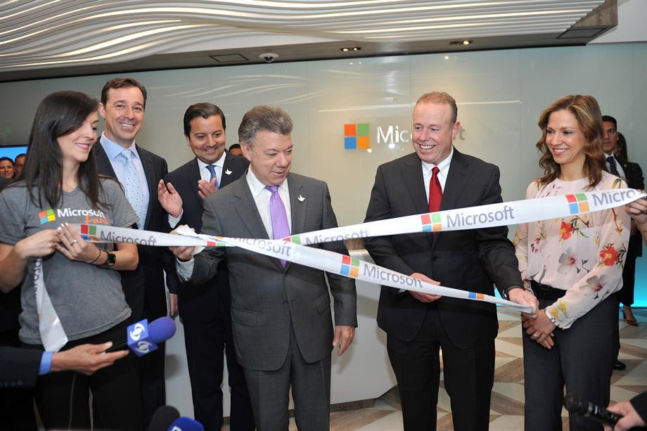 Inauguración de La nueva sede de Microsoft en Colombia