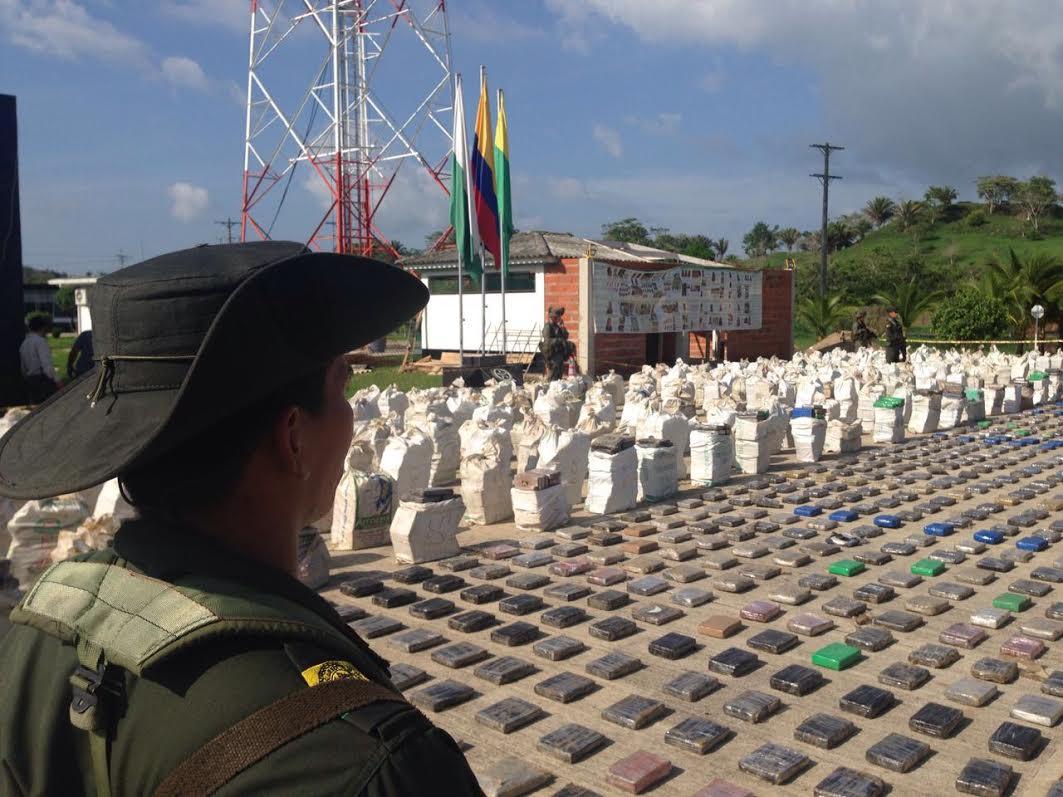 La caleta del 'Clan Úsuga' con aproximadas 8 toneladas de cocaína