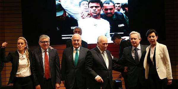 Lilian Tintori-y-Expresidentes Gaviria, Pastrana, Betancur y Alvaro Uribe