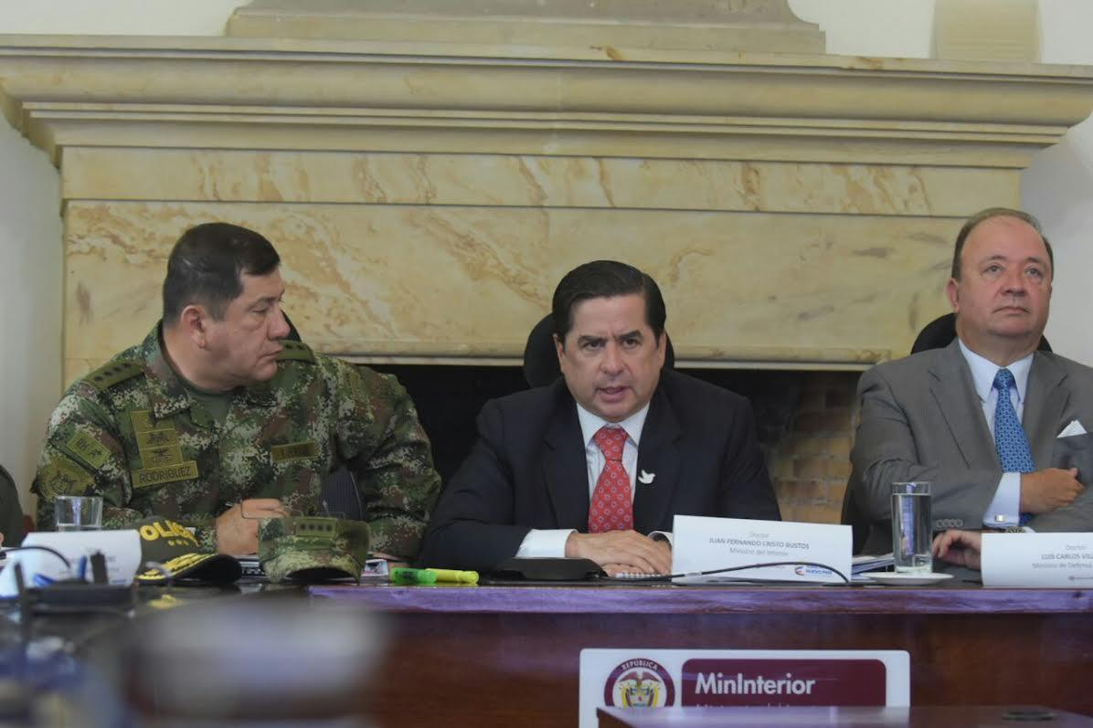 Mininterior Juan Fernando Cristo, lideró una segunda videoconferencia sobre movimiento campesino